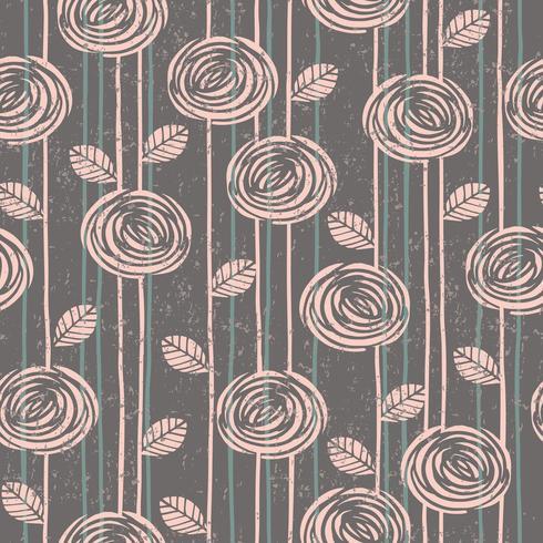 Abstract bloemen naadloos patroon met rozen.