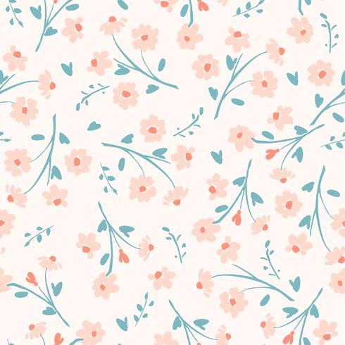 Blom- abstrakt sömlös mönster.