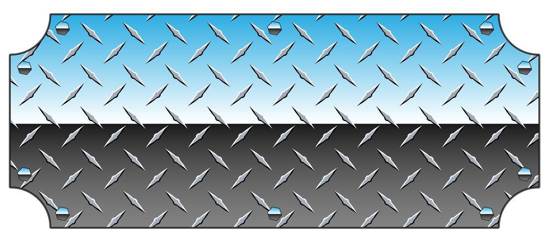 Placa de diamante de cromo brilhante Metal sinal fundo ilustração vetorial