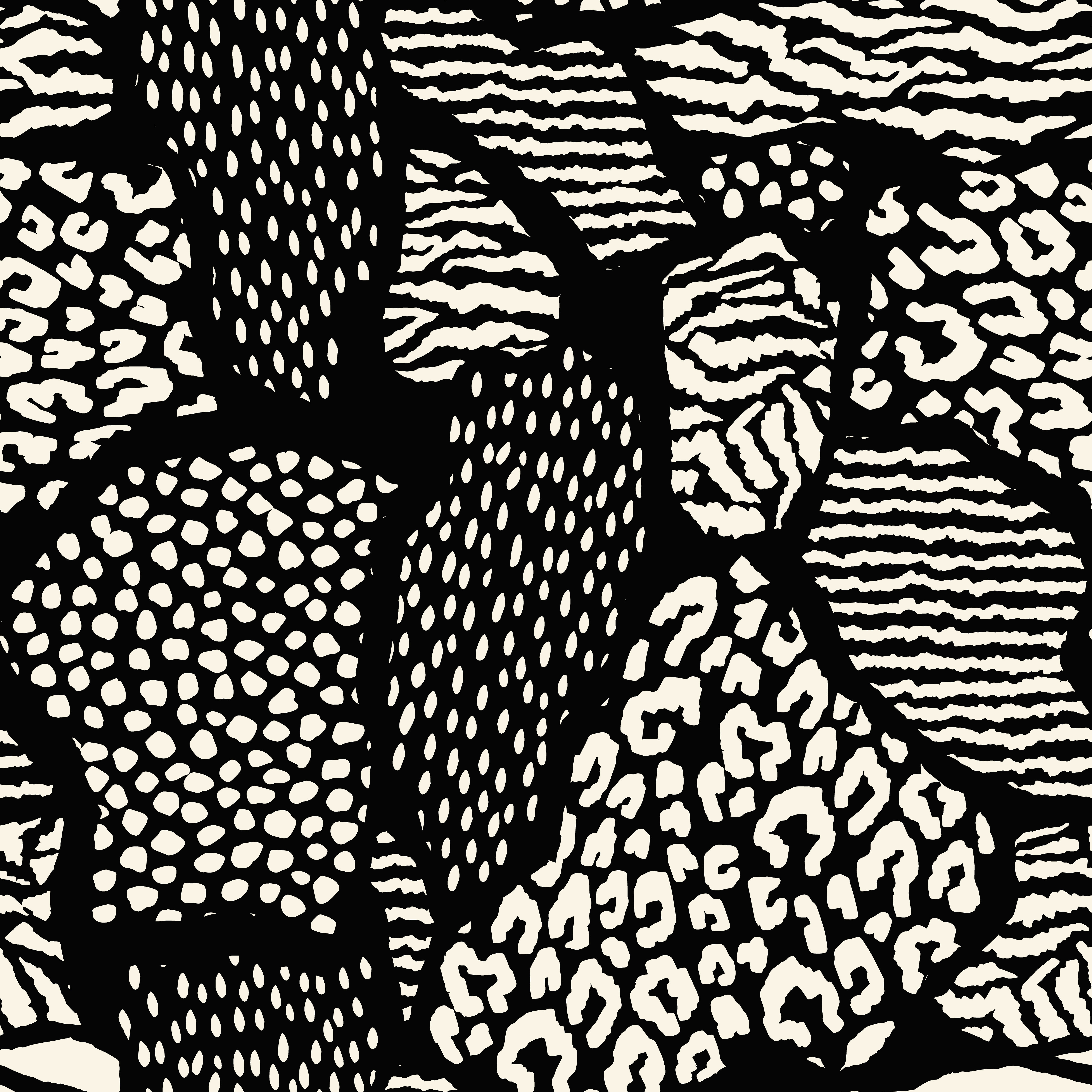 Abstract seamless pattern with animal print. Trendy hand ...
