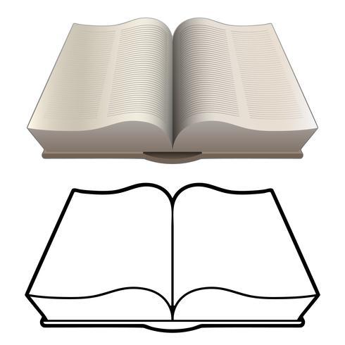 Livre Ouvert Bible Encyclopedie Style Classique