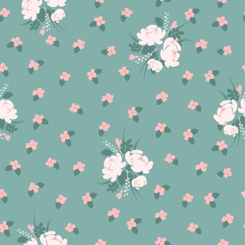 Blom- abstrakt sömlösa mönster med rosor.