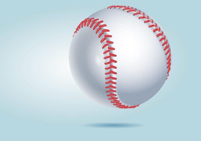 Realistisk Detaljerad Baseboll Vektor Illustration