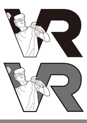VR Logo vector template vector design illustration template