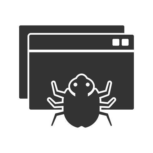 Web Crawler Glyph Icons vector