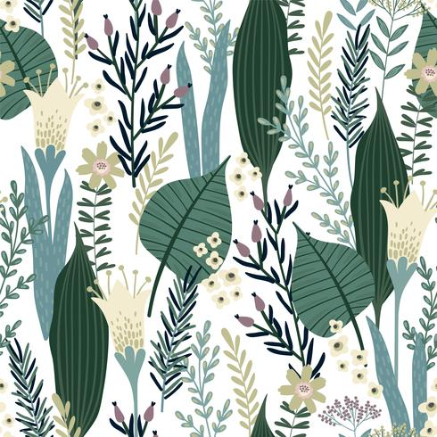 Floral seamless pattern. Vector design for different surfaces.