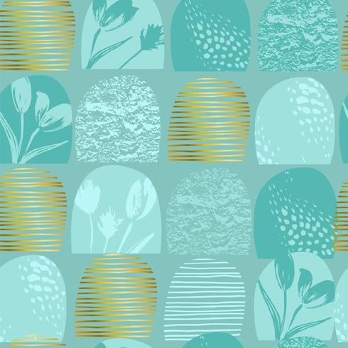 Abstract floral naadloze patroon tulpen. Trendy hand getrokken texturen