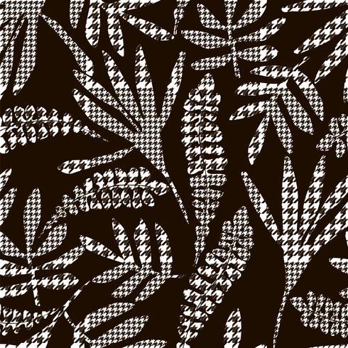 Abstrakta blommor med hund-tandplädmönster.