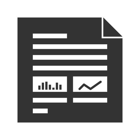 Reports Glyph Icons vector