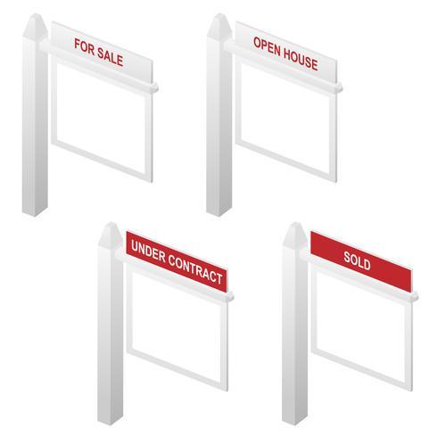 Imóveis para venda, vendido, casa aberta e sob sinais de contrato