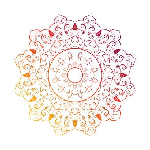 Mandala de flores elementos decorativos vintage