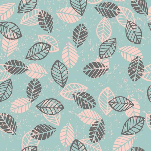 Abstract floral seamless pattern with leaves.
