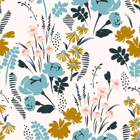 Blommigt sömlöst mönster. Vektor design