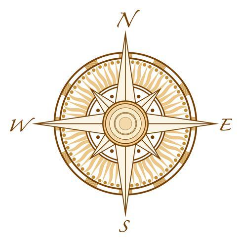 Kompassvektorauslegung-Illustrationsschablone