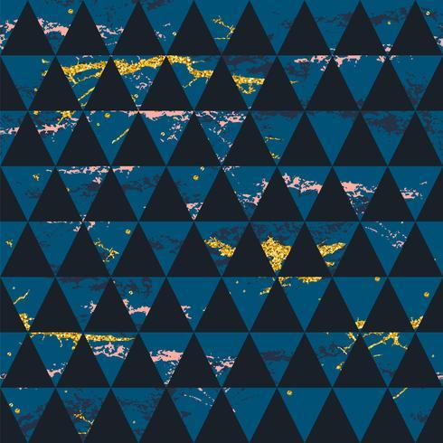 Abstrakt kosmiskt sömlöst mönster. Trendig handritad konsistens, glitter och geometriska element.