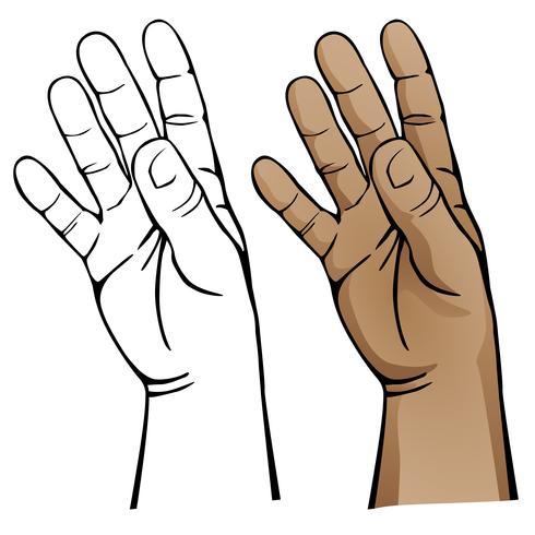Ilustración vectorial mano abierta