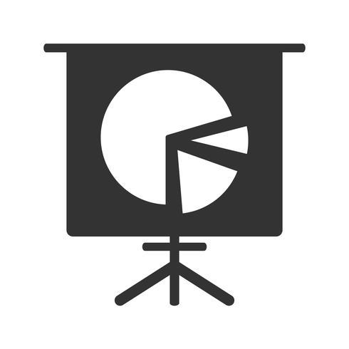 Ícone de glifo de gráfico de pizza
