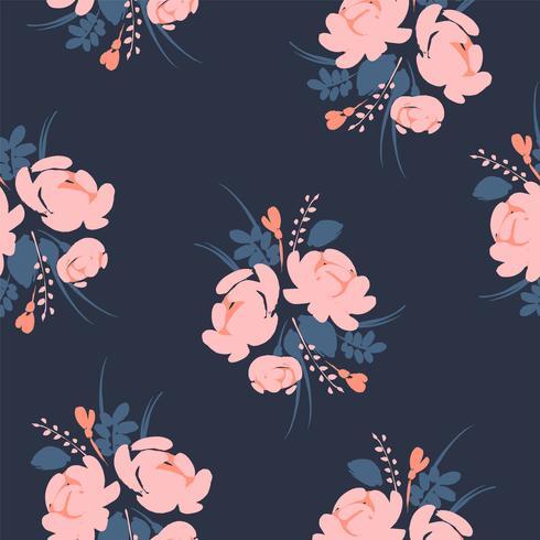 Rosas sem emenda abstratas florais do whit do teste padrão.