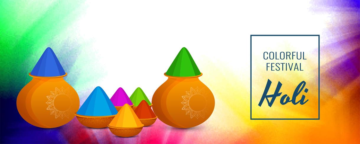 Abstract Happy Holi banner template