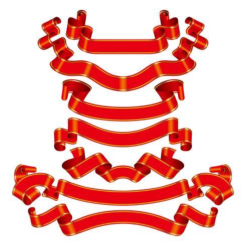 Ribbon title vector design illustration template