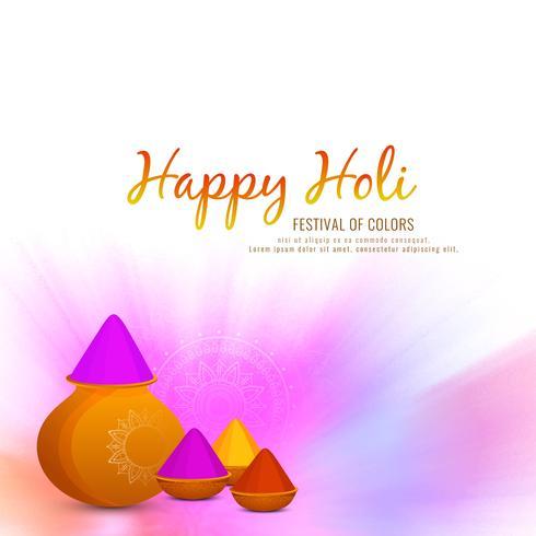 Abstract Happy Holi festival celebration background