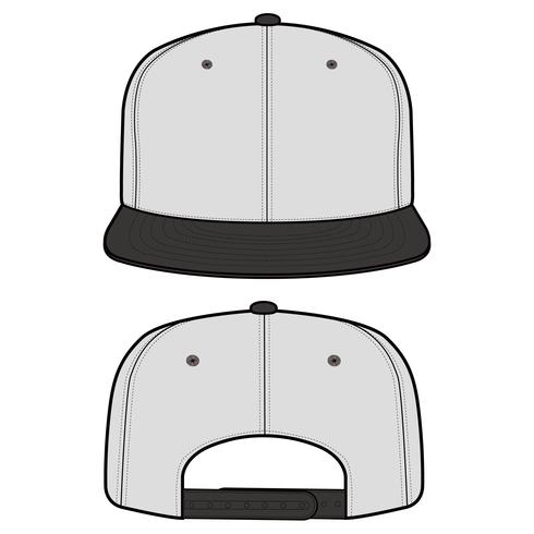 SNAPBACK Cap Fashion flat vector mockup design - Download Free