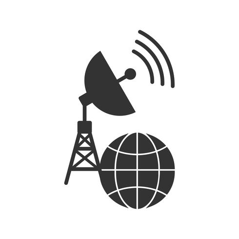 Global Connection Glyph Icons