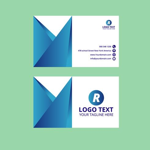 Blue Awesome Business Card