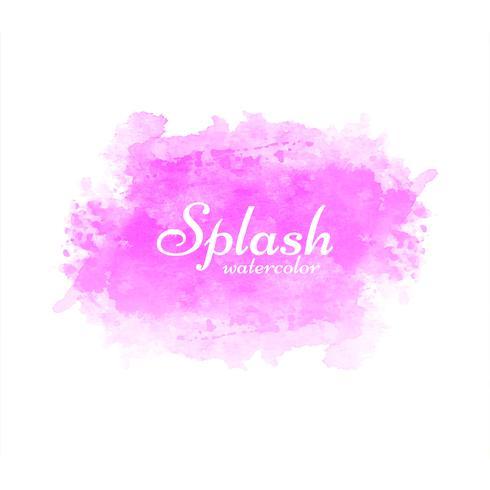 Modern colorful watercolor splash background vector