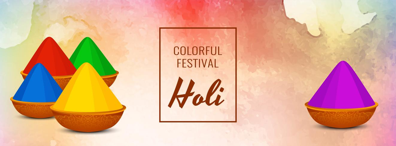 Abstract Indian festival Holi banner template vector