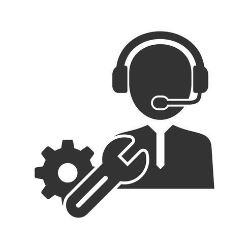 Technical Support Glyph Icons