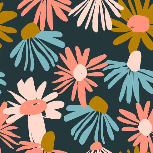Floral seamless pattern. Vector design