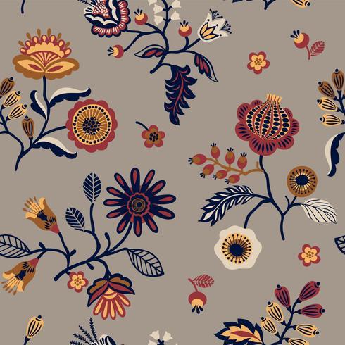 Motif sans soudure floral populaire. Conception abstraite moderne.