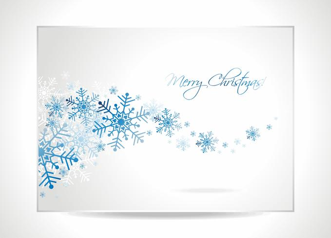 Vector a ilustração do cartão com flocos de neve em um tema do Natal.