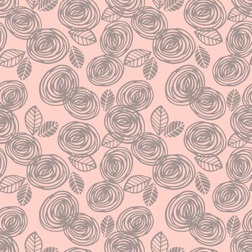 Modelo inconsútil floral abstracto con las rosas.
