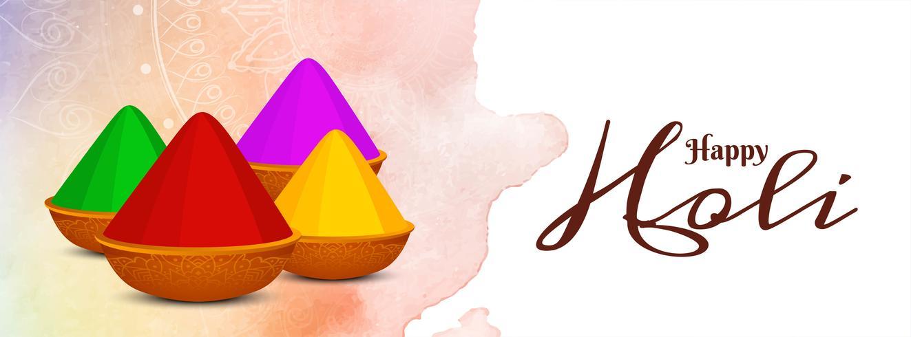 Mooie Happy Holi viering sjabloon voor spandoek