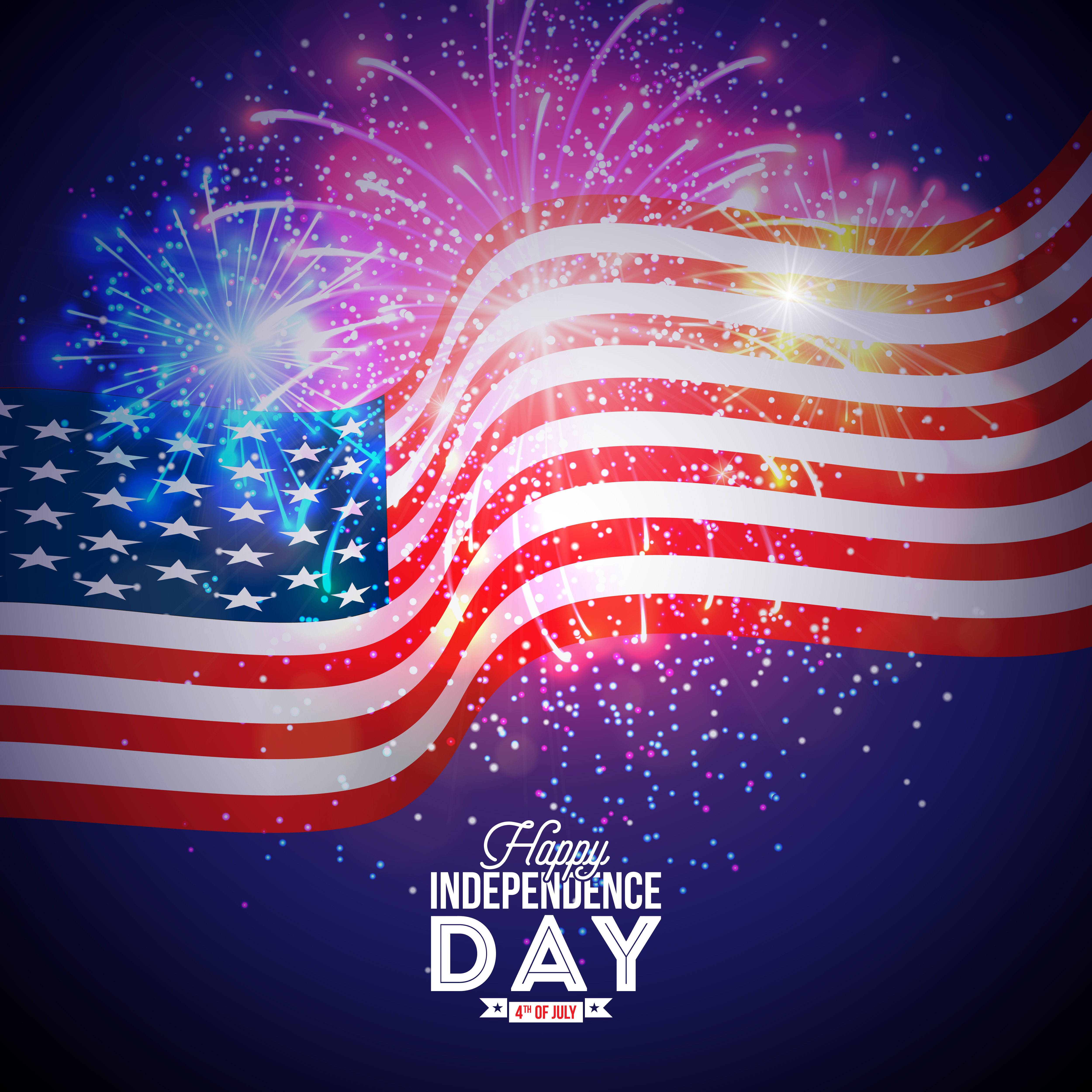 Independence Day: Happy Independence Day Of The USA Illustration