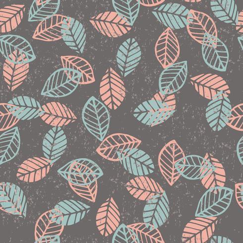 Abstrakt blommigt sömlöst mönster med löv.