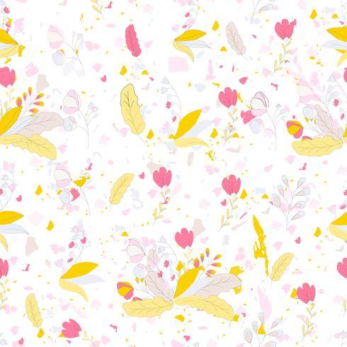Terrazzo seamless pattern vector
