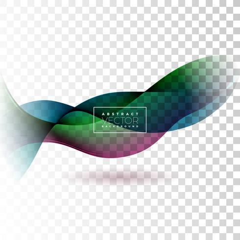 Diseño abstracto de la onda en el fondo transparente