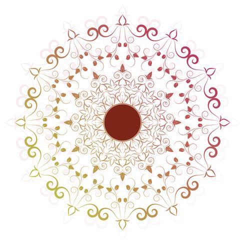 Mandala de flores elementos decorativos vintage vector