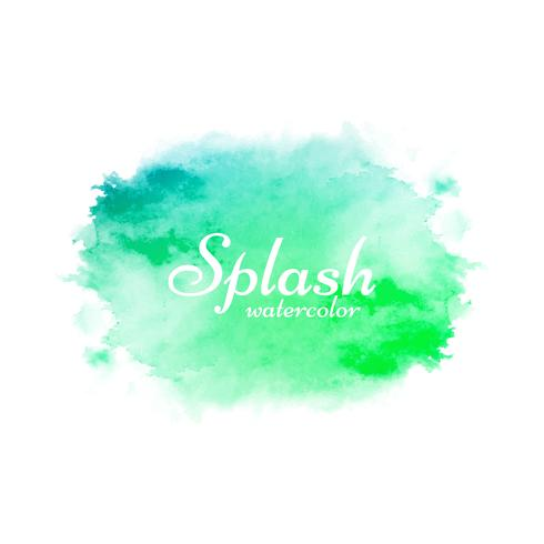 Abstract colorful watercolor splash design