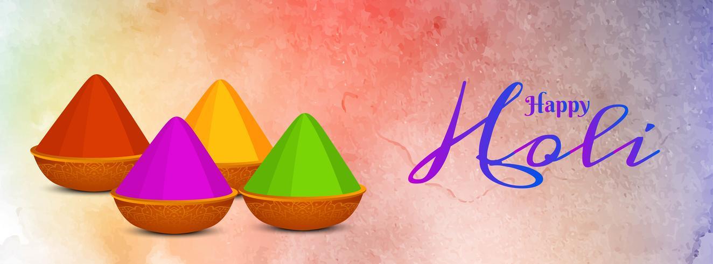 Modèle de bannière abstraite festival indien Holi