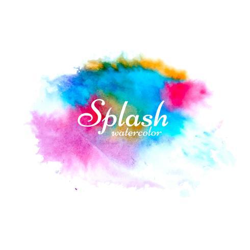 Abstrato design colorido splash aquarela