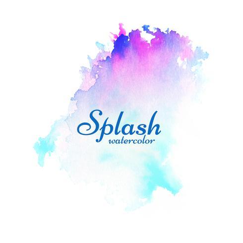 Dessin abstrait coloré aquarelle splash