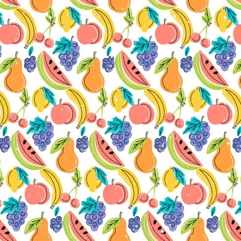 Vector Colorful Fruits Pattern - Download Free Vector Art, Stock Graphics & Images