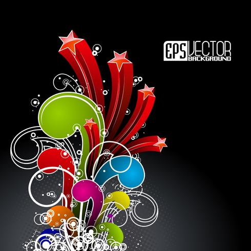 Abstract vector shiny background with color wave design