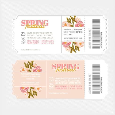 Vector Spring Festival Tickets