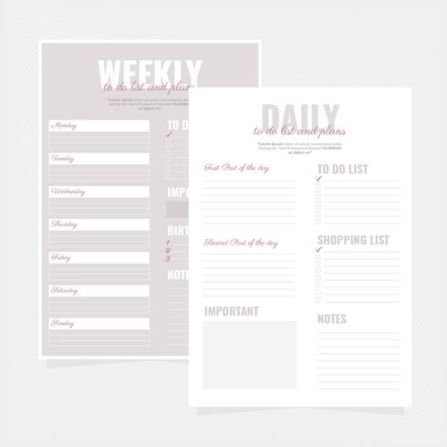 Vector To Do Lists Templates
