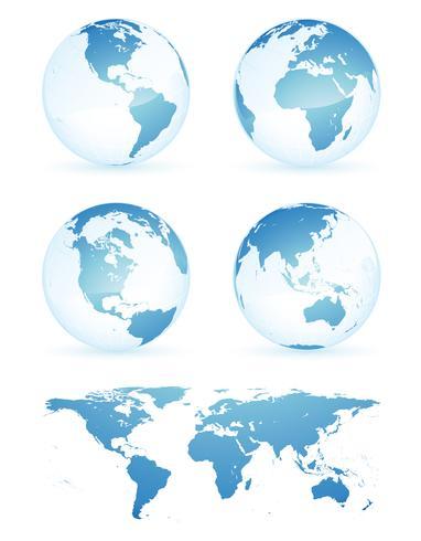 Globe earth map vector design illustration template